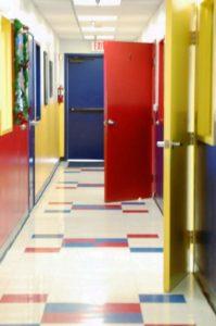 montessori school hallway
