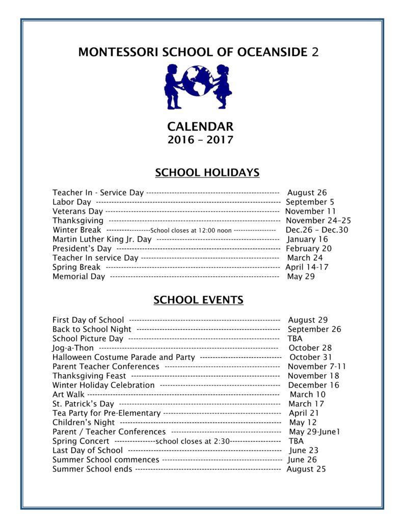 MSO 2 School calendar 2016 - 2017 _001