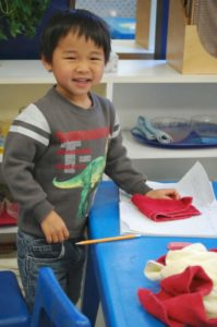 smiling montessori student