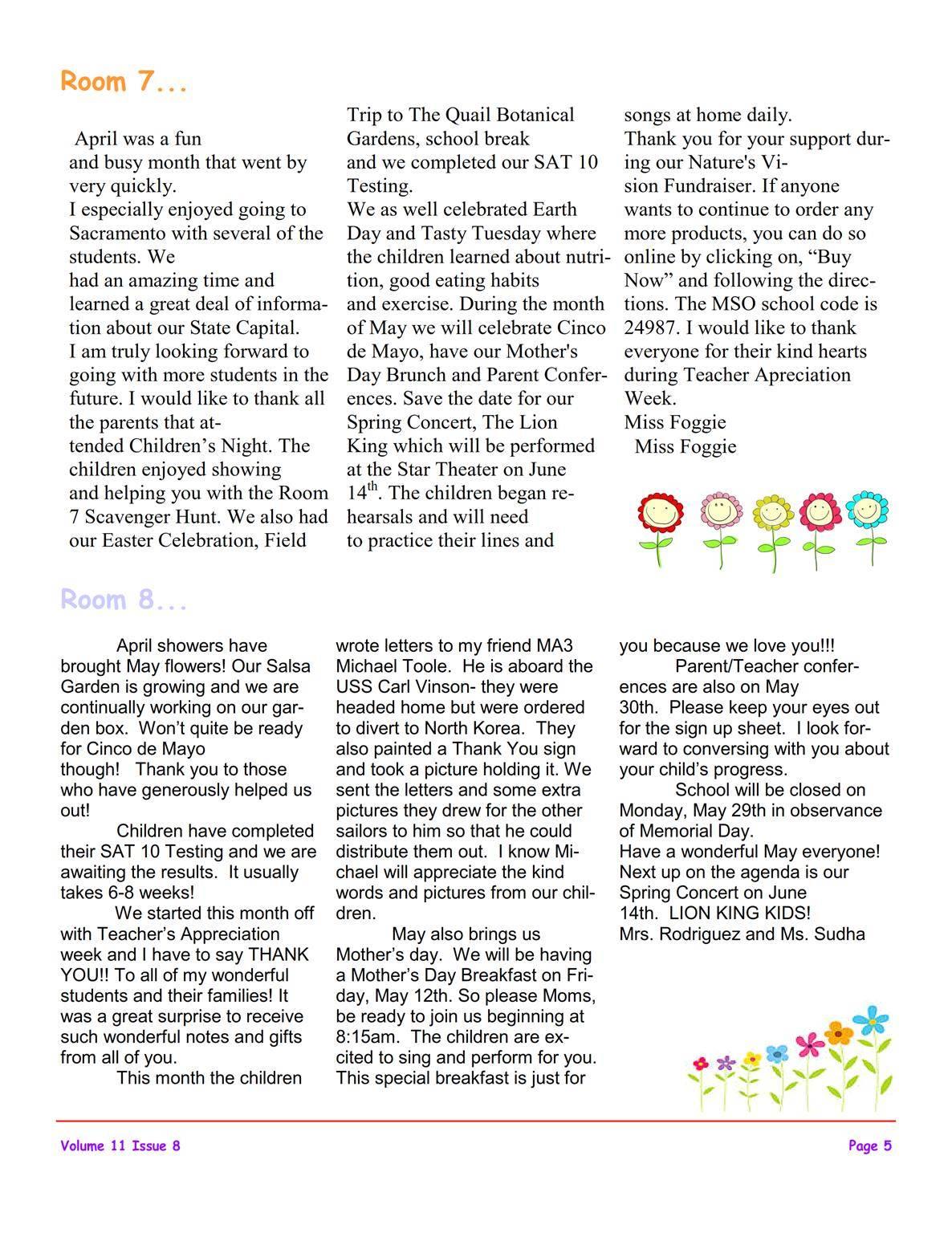 MSO May 2017 Newsletter | Montessori School of Oceanside